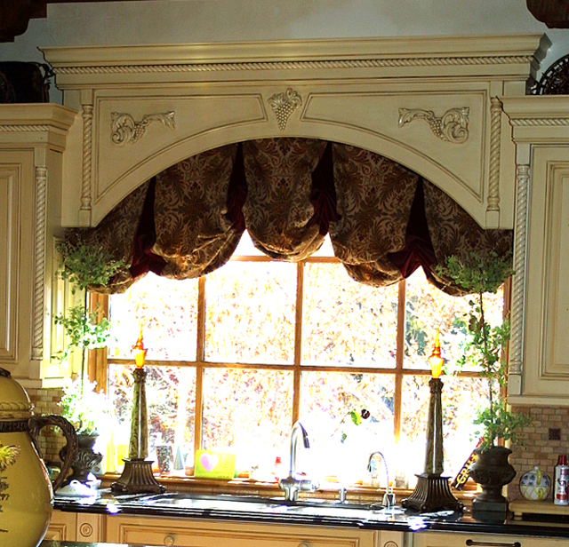 Just windows for Arched kitchen window treatment ideas